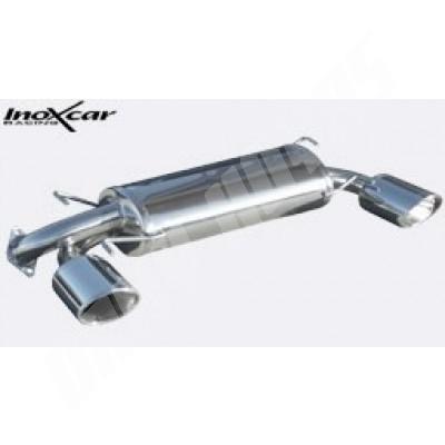 Silencieux arrière inoxcar sti 2008-2010 avec sortie D+G   ovale 150x105 mm