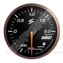 manometre de pression de turbo electrique dsd 52mm fond noir eclairage vert