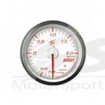 manometre de pression de turbo electrique dsd 52mm fond blanc eclairage rouge