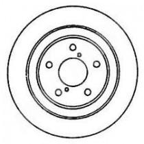 disques de freins arrieres non origine impreza gt 99-00