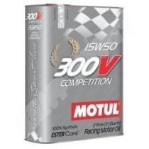 huile motul 15w50 300v competition en bidon de 2 litres