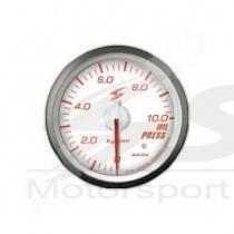 manometre de pression d huile electrique dsd 52mm fond blanc eclairage rouge