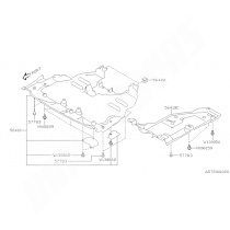 Agrafe carter moteur WRX et STI 2001-2007 et gauche GT 1997-20000