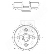 tambour de freins arrieres adaptable chevrolet matiz 2005-2009
