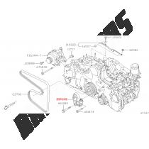 tendeur courroie accessoire origine subaru forester diesel 2015-2018