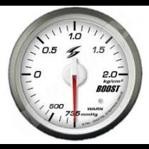 manometre de pression de turbo electrique dsd 52mm fond blanc eclairage vert